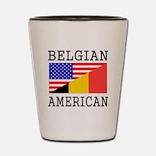 Belgian American Flag Shot Glass