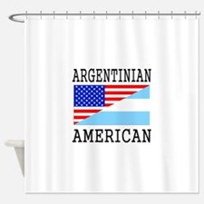 Argentinian American Flag Shower Curtain