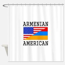 Armenian American Flag Shower Curtain
