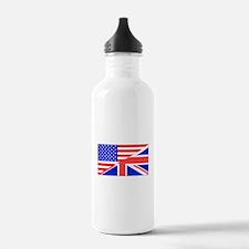 British American Flag Water Bottle