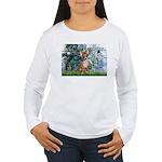 Lilies & Chihuahua Women's Long Sleeve T-Shirt