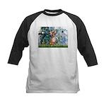 Lilies & Chihuahua Kids Baseball Jersey
