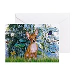 Lilies & Chihuahua Greeting Card
