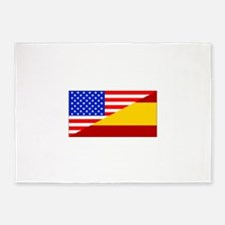 Spanish American Flag 5'x7'Area Rug