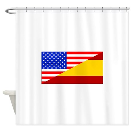 Spanish American Flag Shower Curtain By Halfamerican
