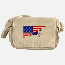 Korean American Flag Messenger Bag