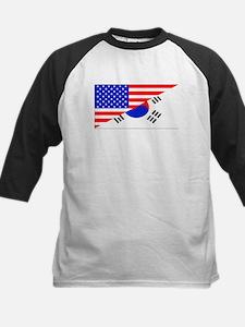 Korean American Flag Baseball Jersey