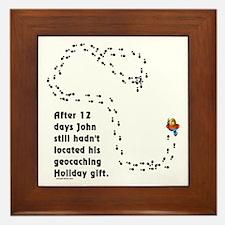 Holiday Geocacher Framed Tile
