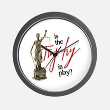 Is the Trophy In Play? Wall Clock