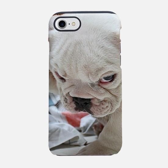 Funny English Bulldog Puppy iPhone 8/7 Tough Case