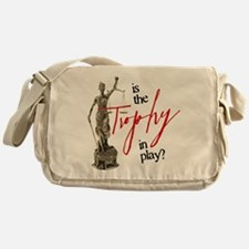 Is the Trophy In Play? Canvas Messenger Bag