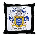 Delgadillo Family Crest Throw Pillow