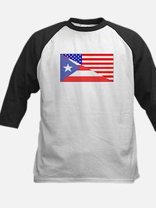 Puerto Rican American Flag Baseball Jersey