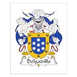 Delgadillo Family Crest Small Poster