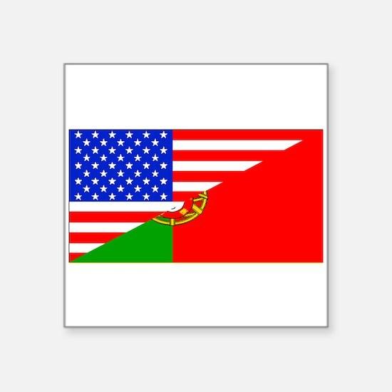 Portuguese American Flag Sticker