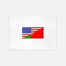 Portuguese American Flag 5'x7'Area Rug
