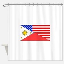 Filipino American Flag Shower Curtain