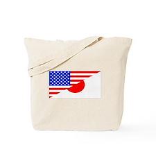 Japanese American Flag Tote Bag