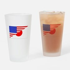 Japanese American Flag Drinking Glass