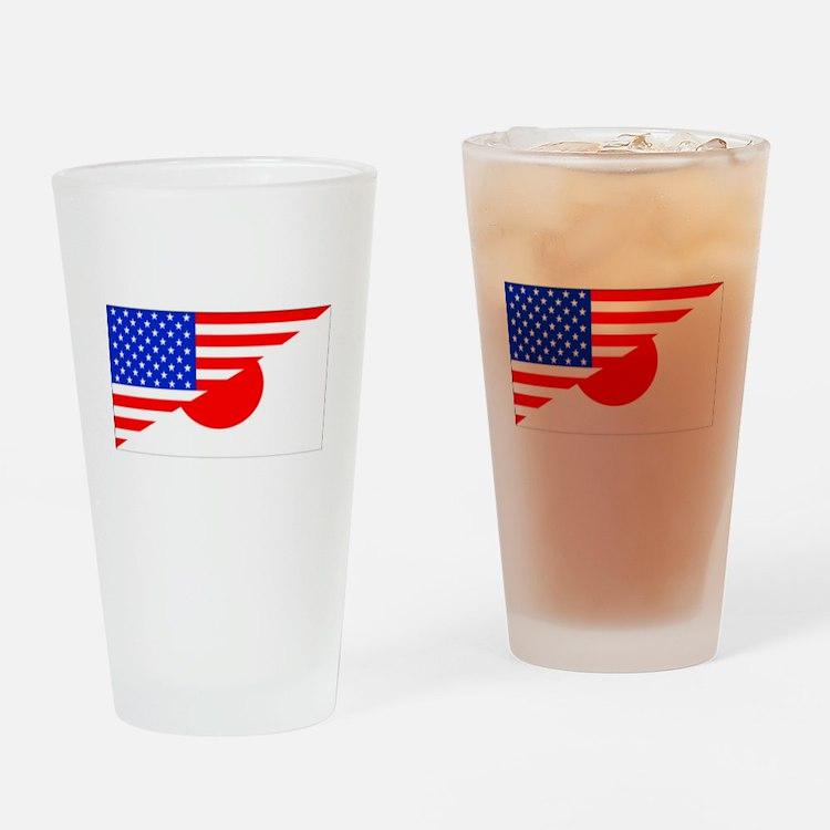 Japanese American Flag Drinking Glass