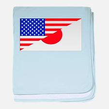 Japanese American Flag baby blanket