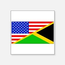 Jamaican American Flag Sticker