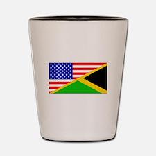 Jamaican American Flag Shot Glass