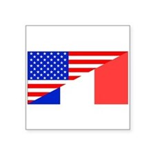 French American Flag Sticker