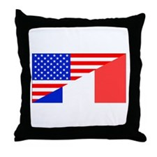 French American Flag Throw Pillow