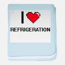 I Love Refrigeration Digital Design baby blanket