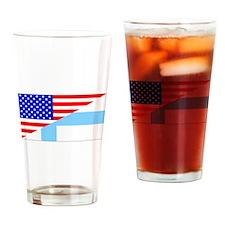 Finnish American Flag Drinking Glass