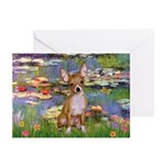 Lilies (2) & Chihuahua Greeting Cards (Pk of 20)