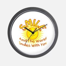 Smile and the world smiles with you. Wall Clock