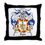 Dato Family Crest Throw Pillow