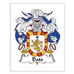 Dato Family Crest Small Poster