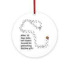 Holiday Geocacher Ornament (Round)