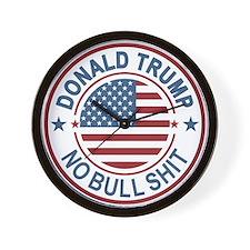 Trump No BS Wall Clock