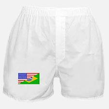 Brazilian American Flag Boxer Shorts