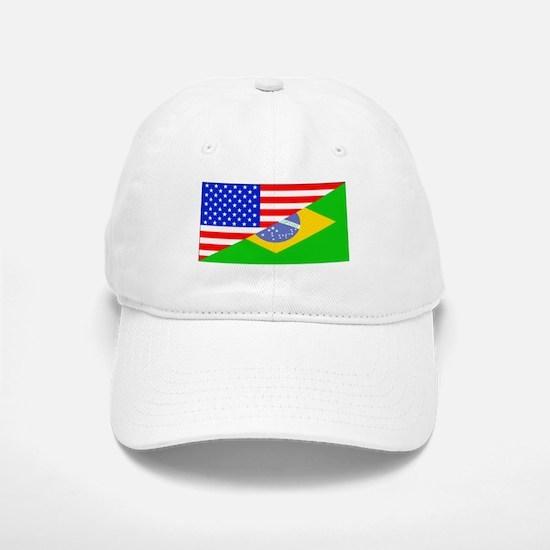 Brazilian American Flag Baseball Baseball Baseball Cap