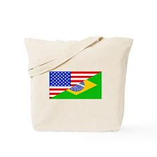 Brazilian American Flag Tote Bag