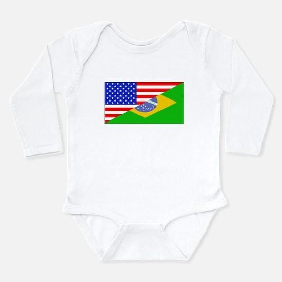 Brazilian American Flag Body Suit