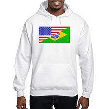 Brazilian American Flag Hoodie