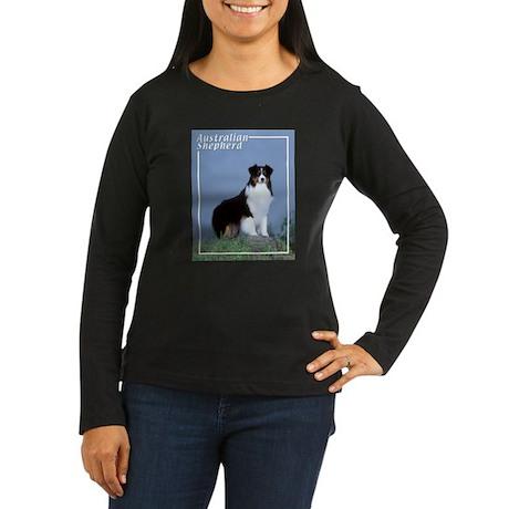 Australian Shepherd-6 Women's Long Sleeve Dark T-S