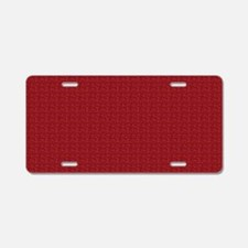 Solid Maroon Aluminum License Plate