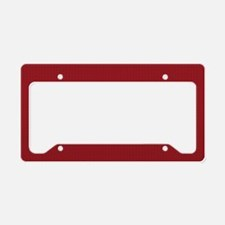 Solid Maroon License Plate Holder