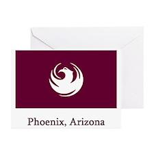 Phoenix AZ Flag Greeting Cards (Pk of 10)