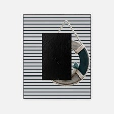 teal grey stripes life saver Picture Frame