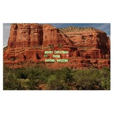 Merry Christmas from Sedona, Arizona Poster