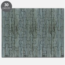 nautical teal beach drift wood  Puzzle