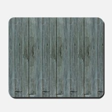 nautical teal beach drift wood  Mousepad